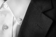 Suit Coat Business Lapel Button Hole Royalty Free Stock Photography