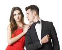 Suit couple Royalty Free Stock Photography