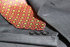 Suit details and tie Royalty Free Stock Photo