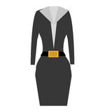 Suit elegant female icon Stock Photos