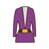 Suit elegant female icon Royalty Free Stock Photos