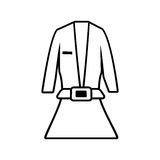 Suit elegant female icon Stock Photo