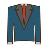 Suit elegant male isolated icon. Vector illustration design Stock Photography
