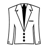 Suit elegant male isolated icon. Vector illustration design Stock Photo