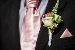Suit with a flower Stock Images