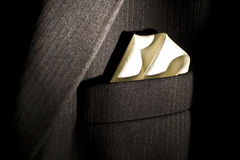 A suit handkerchief royalty free stock images