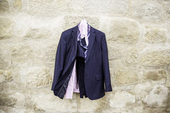 Suit on a hanger Stock Photo