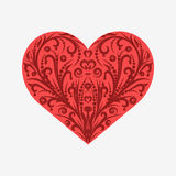 Suit hearts card isolated on white Royalty Free Stock Images