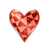 Suit of Hearts Icon. Vector illustration for graphic projects, Parties, Business, Web. Icon Can be used for Game, Web, Mobile App, Infographics. Game asset Royalty Free Stock Images