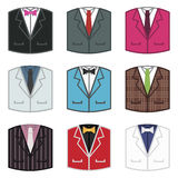 Suit icons Stock Photography