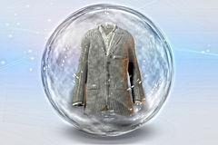 Suit inside Bubble Royalty Free Stock Photos