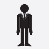 Suit Man Silhouette Stock Photography