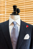 Suit on mannequin. Beside the window Stock Image