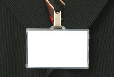 Suit and name tag Royalty Free Stock Photo