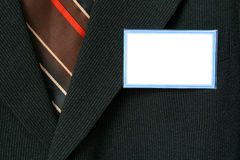 Suit and name tag Stock Photos