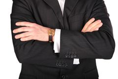 Suit part with hands Royalty Free Stock Photography
