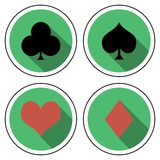 Suit playing cards flat style stock illustration