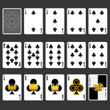 Club Suit Playing Cards Full Set Royalty Free Stock Image