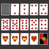 Heart Suit Playing Cards Full Set Stock Images