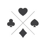 Suit of playing cards icon Royalty Free Stock Photo