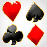 Suit plying cards Royalty Free Stock Photos