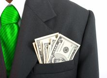 Suit pocket Stock Images