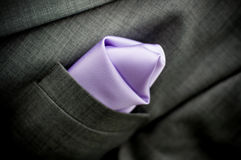 Suit and pocket square Stock Photography