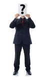 Suit the question Royalty Free Stock Image