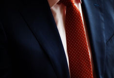 Suit and red tie Royalty Free Stock Images