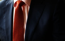 Suit and red tie Royalty Free Stock Image