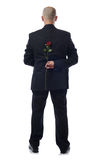 Suit with rose Royalty Free Stock Photos