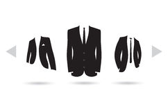 A suit selection Stock Image