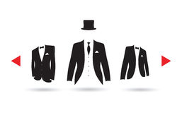 A suit selection Royalty Free Stock Image