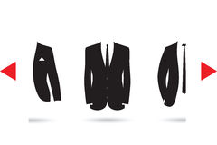 A suit selection Stock Images