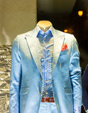 Suit in the shop. Elegant suit on the mannequin in the shop Stock Image
