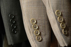 Suit sleeves. Modern suit sleeves and buttons Stock Photography