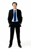 Suit smiling man Stock Photography