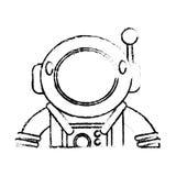 Suit space astronaut sketch Stock Images