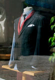 Suit in tailor workshop. Royalty Free Stock Photography