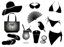 suit and things for the beach Royalty Free Stock Image