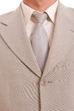 Suit and tie. Detail of a suit and a tie Stock Photo