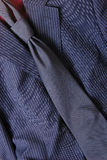 Suit and tie. Black suit and tie in close-up Stock Photos