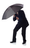 Suit umbrella Royalty Free Stock Image