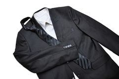 Suit. With white shirt and tie royalty free stock photo