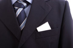 Suit With Business Card Stock Photography