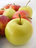 Suitable apple pictures on the packaging Stock Photography