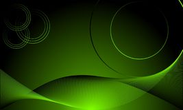 Abstract dark futuristic background with glowing neon circles. vector illustration