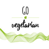 Suitable for vegetarian. Vegan related labels set. Go vegetarian Royalty Free Stock Images