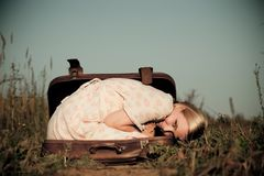 In a suitcase Stock Images