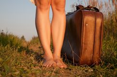 And suitcase Royalty Free Stock Photography